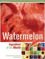 Watermelon Ingredient Of The - Clemson University