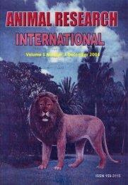 ARI Volume 1 Number 3.pdf - Zoo-unn.org