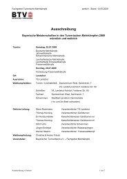 Ausschreibung - Bayerischer Fechtverband e.V.