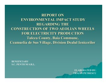 REPORT ON ENVIRONMENTAL IMPACT STUDY REGARDING ...