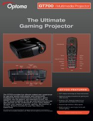 The Ultimate Gaming Projector - Optoma