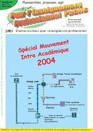 Spécial Mouvement Intra Académique 2004 - snuep