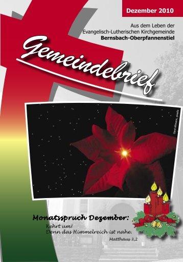 Dezember 2010 Monatsspruch Dezember: - posaunenchor ...