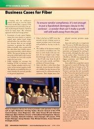 Business Cases for Fiber - Broadband Properties