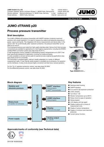 JUMO dTRANS p20 - Digitrol
