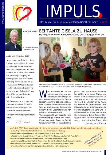 BEI TANTE GISELA ZU HAUSE - Heim gGmbH