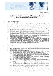 Startberechtigung zu BFV-Turnieren - Bayerischer Fechtverband e.V.