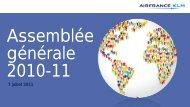 Présentation de l'Assemblée générale (2011) - Air France-KLM ...