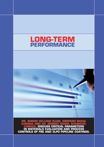 Long-Term Performance - Bredero Shaw