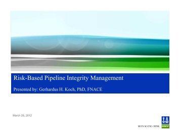 Risk Based Pipeline Integrity Management [Compatibility Mode] - DNV
