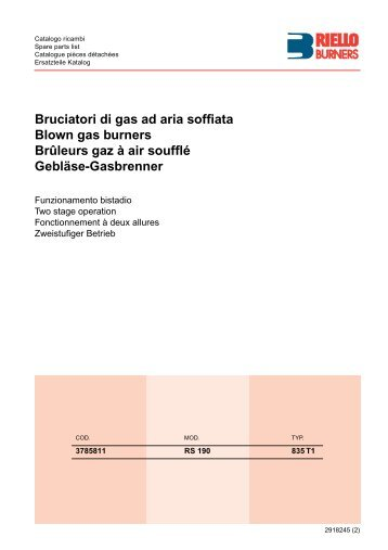 Bruciatori di gas ad aria soffiata Blown gas burners Brûleurs gaz à ...
