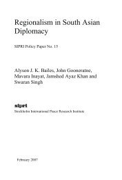 Regionalism in South Asian Diplomacy - Publications - SIPRI