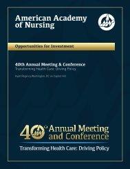 Sponsor, advertise, exhibit - American Academy of Nursing