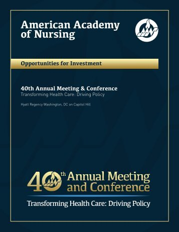 Sponsor, advertise, exhibit - American Academy of Nursing
