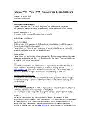 Notulen NVVK – ViZ / NVVA – Contactgroep Gezondheidszorg