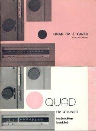 QUAD FM 3 TUNER - Quad-hifi.info
