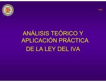 análisis teórico y aplicación práctica de la ley del iva - Interejecutivos
