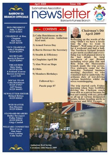 April 09 - Barrow Submariners Association