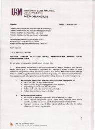 Tanggungjawab Semua - Jabatan Pendaftar - USM