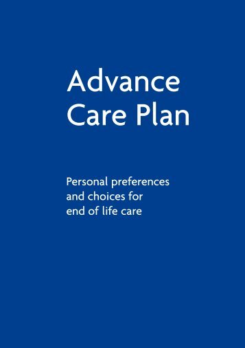 St Christopher's Hospice: Advance care plan - London Health ...