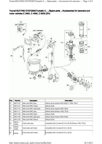 Truma Gas Heater Spare Parts Reviewmotors Co