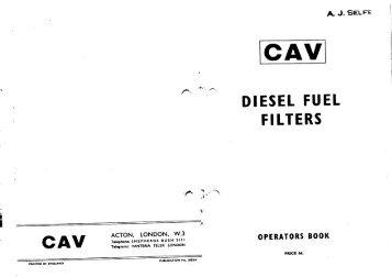 CAV Diesel Fuel Filter