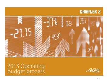 2013 Operating Budget Process - City of Guelph