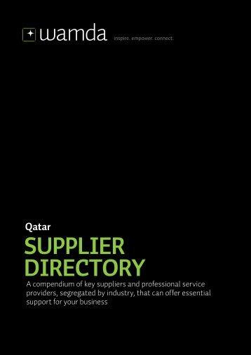 Qatar SUPPLIER DIRECTORY - Wamda.com