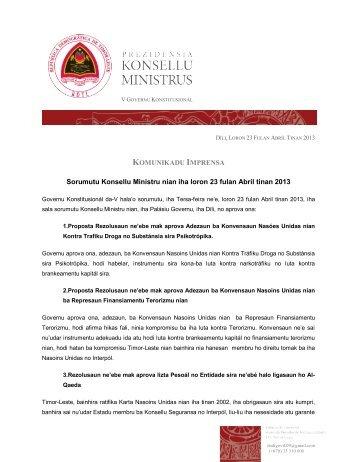Download - Governo de Timor-Leste