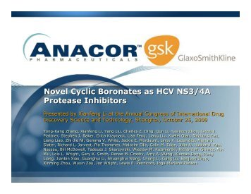 Novel Cyclic Boronates as HCV NS3/4A Protease Inhibitors ... - Anacor