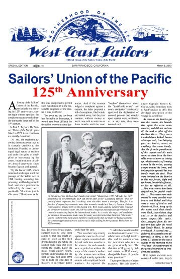 125th Anniversay Edition - Sailors' Union of the Pacific