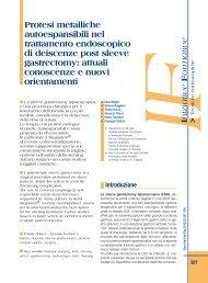 Protesi metalliche autoespansibili nel trattamento ... - Sied