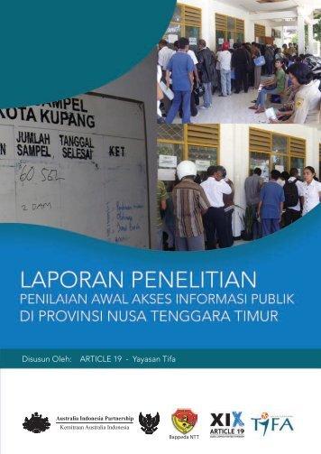 Penilaian Awal Akses Informasi Publik di Nusa Tenggara ... - Article 19