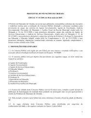 Edital 01/2009 - Prefeitura Municipal de Uberaba
