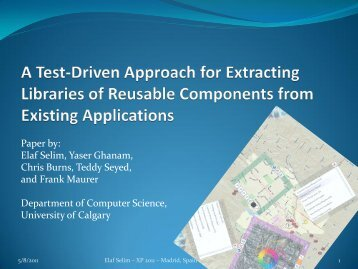 Test-Driven Development of Graphical User Interfaces - University of ...