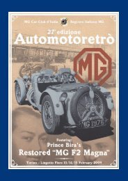 Automotoretrò - MG Car Club