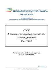CORSI di formazione per Maestri di Mountain-bike e ciclismo ...