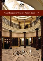 Open PDF - CEO Report 2009-10 - Size 1 MB - Family Court of ...