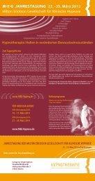hypnotherApIe - MEG Jahrestagung 2014