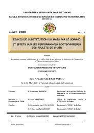 Essais de substitution du maïs par le sorgho et effets sur les ... - BEEP