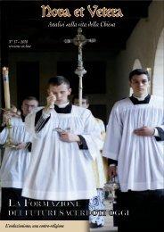 Nova et Vetera n°17 - Fraternità Sacerdotale di San Pio X