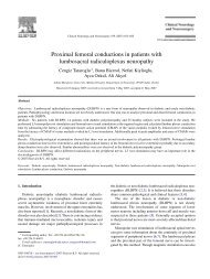 Proximal femoral conductions in patients with lumbosacral ...