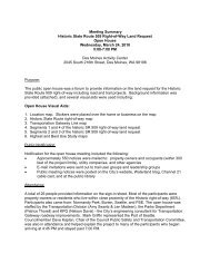 Meeting Summary Historic State Route 509 Right-of-Way Land ...
