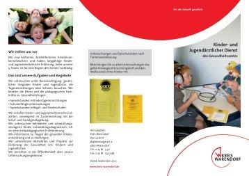 Kinder- und jugendärztlicher Dienst des Gesundheitsamtes - OSIRIS