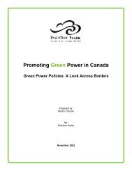 Promoting Green Power in Canada - Centre for Human Settlements
