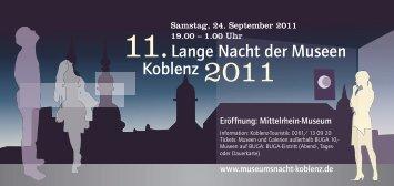 11.Lange Nacht der Museen Koblenz 2011 - EDITHA Pröbstle