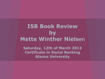 Mette Winther-Nielsen - Institute for Social Banking