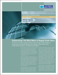 Outsourcing: The Next Wave of Supply Chain Value Americas ...