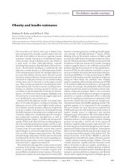 Obesity and insulin resistance - Journal of Clinical Investigation