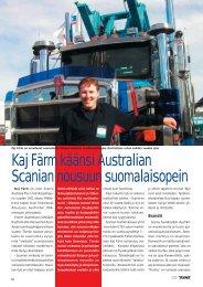 Kaj Färm käänsi Australian Scanian nousuun suomalaisopein s. 28